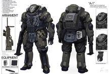 Power armors, mecha, armor kits