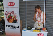 Promo 5 Al día - Mango / Promoción de 5 al Día, degustación de mango producido en España por Frutas TROPS.