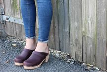 High Heel Clog in Aubergine