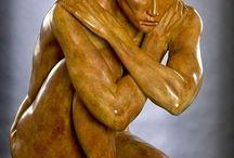 Escultura Madeira - Pessoas