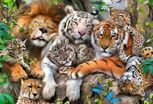 Lions and tigers and leopards and more...... / by Becky Weber