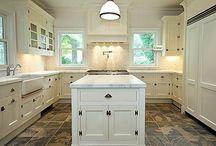Grey Floor White Cupboard KITCHEN