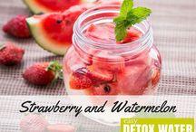 Detox Water Recipes / Healthy Living