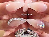 nails swarovski crystals