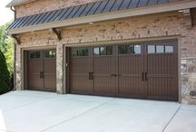 Composite Overlay / These are metal insulated garage doors with a composite overlay to give the special look that you see.
