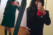 Outfit in Black ... Velvet Black ... / Vintage Black ... Vintage rose ... Velvet ...