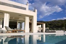 Villa Aori #Crete #Greece #Island / Villa Aori is part of a complex of 4 independent luxury residences each with private swimming pool. http://www.mygreek-villa.com/fr/rent-villa-search-2/villa-aori