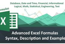 Advance Excel Tips and Tricks / Get all the Advance formulas related to Excel like - Database, Financial, Text, Maths, Stastical, Engineering, Logical. The formulas include 150 Formulas for Efficient working with excel, and get work done easily
