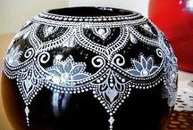 Ceramica decorata con pois