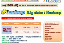Big Data / Hadoop Online Training from Acutesoft