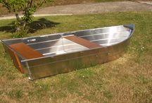 Barque en aluminium soudée à fond plat Barque de pêche Modèle 285 / Barque de pêche Barque en aluminium Barque légère Barque soudée Barque à fond plat Barque haut de gamme Barque design Barque d'occasion Barque alu