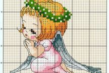 Angeli punto croce