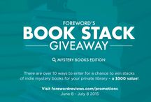 Giveaways / Following our mission to spread the word about great books from independent publishers and authors, we want to give you a chance to enter and win stacks of indie books.