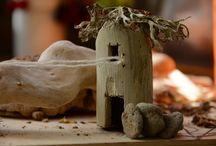 Le casette / piccole case in legno (anche per il presepe), игрушечные домики из дерева