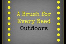 A Cleaning Brush for Every Need (Outdoors) / Where we show the various different brushes you can use for most cleaning projects outdoors.