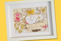 Anniversary's / Pineapple Magic handcraft beautifully bespoke pieces of art by using your precious cards.  We do so with loving care and attention to detail, creating stunning pictures.  Using a process of collage and design, your cards will come to life! These wonderful pieces of art are the perfect way to decorate your home, allowing you to enjoy all the memories they offer on a daily basis.