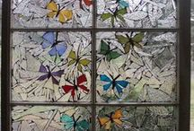 old window mossaic