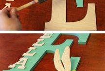 letters wood decoration diy