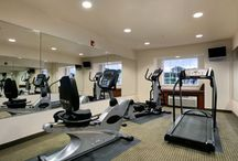 Stay Active on the Road / Keep your workout routine on track at one of our fitness centers, available at select locations. Each facility includes at least three pieces of professional-grade workout machinery including treadmills, recumbent or stationary bicycles, elliptical trainers or stair climbers.