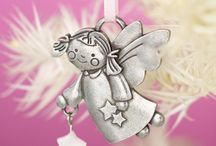 Pewter Baby Ornaments / Pewter Baby Gifts