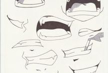 Anime mouth designs / Anime mouth designs