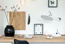 monochrome office inspo