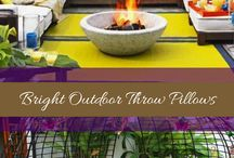 Outdoor Living Space Decor / Decorating an outdoor space or patio with DIY decor and weather-resistant ideas