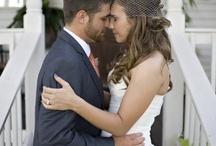 Wedding dress and bridesmaid