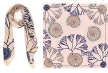 scarf silk motif