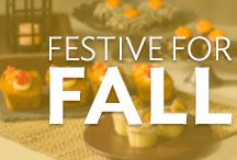 Festive for Fall / Fall in love with autumn cake, cupcake and small treat ideas to share. Whether it's pumpkins, warm oranges and browns, or fondant leaves, there's a bit of fall dessert inspiration for everyone here.
