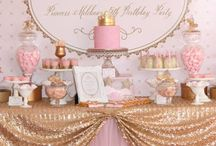 Pink & gold ♡ Sweet Tables / Lovely combination !