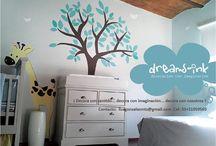 """Nuestro Trabajo / Este es una pequeña muestra de mi trabajo en la decoración de habitaciones infantiles, asi como infinidad de ideas para seguir nuestro lema """" decoración con imaginación"""""""