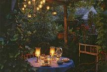 Обустройство мест отдыха в саду