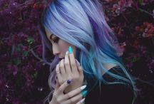 Păr colorat.