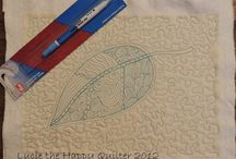 Free motion quilting & zentangle / Free motion quilting and zentangle