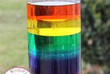 Making a liquid rainbow
