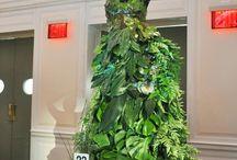 floral art, manequins ans head pieces