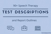 Assessment/Evaluation / Speech therapy assessments