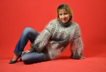 Hand knit mohair sweater / ** Mohair69 ** My selling on Ebay. Sweaters made of natural goat down from the Don breed goats Russia. Mohair. Very warm. Under each photo can have a link to view and purchase. Welcome . Thank you !
