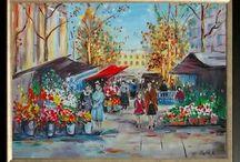 Oil paintings / My mom's work
