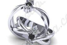 Inele de logodna cu diamant negru / Vezi modele de inele de logodna deosebite, realizate cu diamante negre!