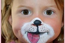 {Toddler face painting}