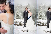Real Wedding: Shandell & Jordan in Banff / Another Rocky Mountain winter destination wedding at Banff Springs Fairmont.