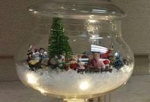 Lighted Christmas Terrarium