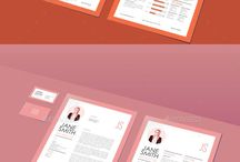 Resume Templates Design / Design, Clean, Modern, colors, doc, word, psd, ai, cool, Simple