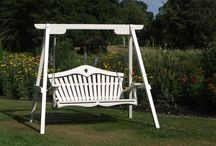 Painted Swing Seats / Our Harmony Swing Seats, painted in Farrow & Ball colours