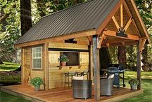 Out the back / Backyard ideas, man cave ideas, under the  pergola ideas