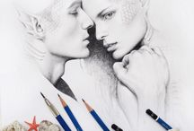 Illustrations / Drawing pictures people pencil mermaid portrait staedtler pencil drawing