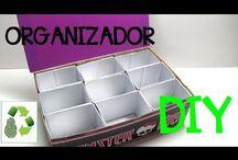 Organizadores Organizer / Organizadores hechos con material reciclado #diy #manualidades #reciclaje
