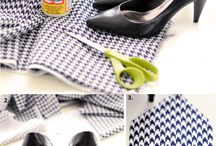 DIY covered shoes
